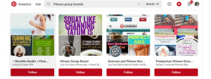 Pinterest Group Board Result